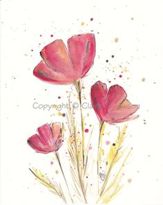 Simply Reds  Original watercolor 8x10 by claireswilson on Etsy, $45.00