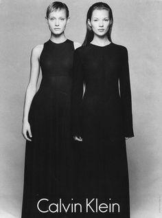 Amber Valetta & Kate Moss for Calvin Klein Kate Moss, Ali Michael, Jane Birkin, Drew Barrymore, Calvin Klein Ads, Manhattan, Moss Fashion, Stephanie Seymour, Carla Bruni