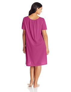 5613145577 Shadowline Women s Plus-Size Petals 40 Inch Short Flutter Sleeve Waltz Gown  at Amazon Women s Clothing store