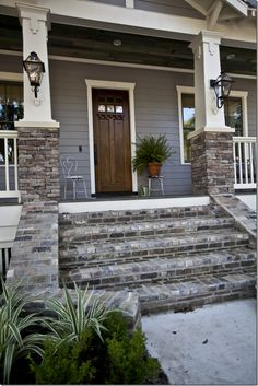 Another great way to incorporate stone to the exterior of your home.