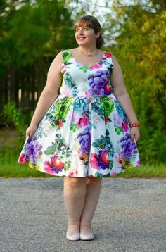 this look from the ModCloth Style Gallery! Cutest community ever. Plus Size Fashion For Women, Curvy Women Fashion, Plus Size Dresses, Plus Size Outfits, Moda Pinup, Xl Models, Dresses For Apple Shape, Curvy Women Outfits, Plus Sise