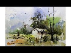 Easy watercolor landscape painting by Sikander Singh Chandigarh India source The post Easy watercolor landscape painting VIDEO TUTORIAL appeared first on PaintingTube. Watercolor Art Lessons, Watercolor Art Diy, Watercolor Video, Watercolor Pictures, Watercolor Projects, Watercolor Landscape Paintings, Landscape Drawings, Watercolour Tutorials, Watercolor Artists