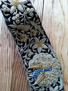 Embroidered Peacock Belt