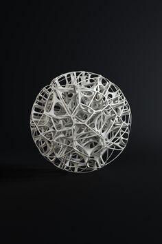Esculturas Generative no Behance Art Fractal, Fractals, Impression 3d, Shape Design, 3d Design, Mandala Art, Art Génératif, Art 3d, Volume Art