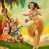 Items similar to Vintage Graphic Hula Girl dancing Fridge Magnet Pin Up Girl on Etsy Hawaiian Art, Vintage Hawaiian, Hawaiian Dancers, Pin Up Vintage, Vintage Art, Vintage Graphic, Vintage Tiki, Vintage Ideas, Etsy Vintage