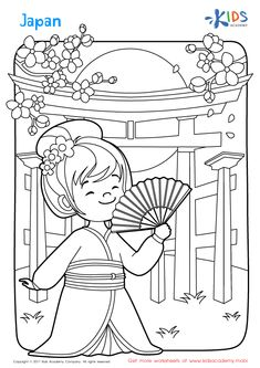 Japan Coloring Page