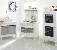 Farmhouse Kitchen Collection | Pottery Barn Kids. This is one of the two real stretch goal Christmas gifts. Not going to happen, but OH SO CUTE!