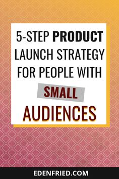 The Launch Strategy to Implement When You Have No Email List or Audience // Eden Fried -- Online Business Opportunities, Business Tips, Creative Business, Online Marketing Strategies, Marketing Plan, Tips Online, People Online, Find People, Email List