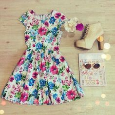 Love thiiss outfit #dress -  #outfit -  heals,  #sunglasses -  summer