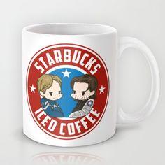 Starbucks - Steve Rogers and Bucky Barnes Iced Coffee  Mug by BlacksSideshow - $15.00