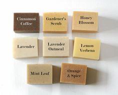 12 Bars of Handmade Soap - Mix & Match Dozen - 100% Natural Handmade Olive Oil Soap. $50.00, via Etsy.