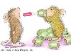 """Mudpie and Amanda from House-Mouse Designs featured on the The Daily Squeek® for August 7th, 2013. Click on the image to see it on a bunch of really """"Mice"""" products."""