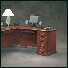 Sauder Heritage Hill 48 Inch Return Kit by Sauder. Save 34 Off!. $236.12. Classic Cherry Finish. Features: Contains parts to convert the Heritage Hill Large Executive Desk into an L-shape configuration by fastening desk drawers to the Return Kit (drawers not included with return) Keyboard shelf features right and left extensions for a computer mouse Classic Cherry finish