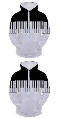 2017 new fashion Cool sweatshirt Hoodies Men women 3D print Black piano keys fashion hot Style Streetwear Long sleeve clothing