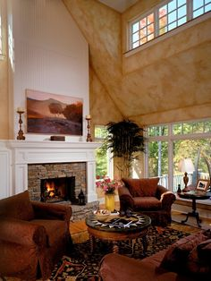 Rock Fireplace Surround Design, Pictures, Remodel, Decor and Ideas - page 4