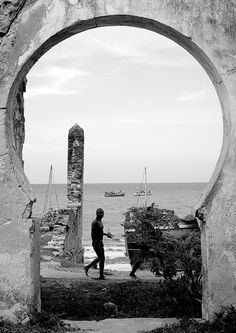 Old Customs house in Bagamoyo harbour, Tanzania by Eric Lafforgue Eric Lafforgue, German East Africa, Customs House, Tanzania, 18th Century, The Past, Coast, Window, African