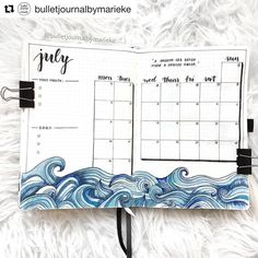 30 Under the Sea Themed Bullet Journal Layout Ideas 30 Under. - 30 Under the Sea Themed Bullet Journal Layout Ideas 30 Under the Sea Themed Bul - Bullet Journal School, Bullet Journal 2019, Bullet Journal Notebook, Bullet Journal Ideas Pages, Bullet Journals, Bullet Journal Overview, Journal Themes, Bullet Journal Beginning, Bullet Journal Design Ideas