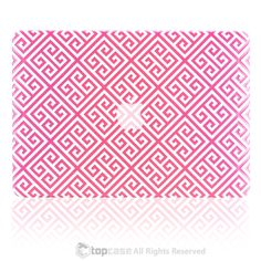 Pink Greek Key Rubberized Hard Case for MacBook Pro with Retina Display Macbook Case, Macbook Air 13, Princess Toys, Greek Key, Pattern, Pink, Design, Patterns, Model