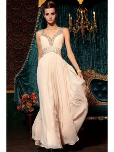 Amazing Sleeveless Floor-Length Scoop Sheath/Column Chiffon Dresses $377.99 Formal Dresses