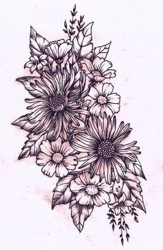 drawing for flower tattoo