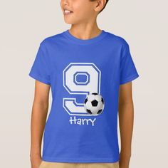 9th Birthday boy soccer personalized-2 T-Shirt - click/tap to personalize and buy