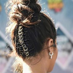 hoop it up... #styleinspo #updo