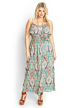 Kaleidoscope Flounce Maxi Dress | FOREVER21 PLUS - 2000123452