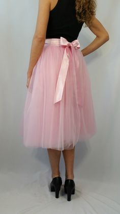 Women Tulle Skirt Tea length Tutu Skirt by MDSewingAtelier on Etsy-$109.00-Assorted Colors