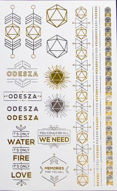 ODESZA Temporary Tattoos