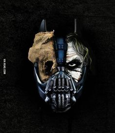 Scarecrow, Joker Bane and Batman all mixed in one! They should use this for a Batman movie, maybe Batman Returns or something, bringing back this 3 villains. But still, this is truly fantastic. Bane Batman, I Am Batman, Batman Begins, Batman Art, The Dark Knight Trilogy, The Dark Knight Rises, Bane Dark Knight, Joker And Harley, Harley Quinn