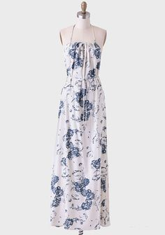 Cyprus Foothills Floral Maxi Dress