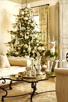 Silver & gold Christmas tree ornaments décor Paris Apartment ToniKami Ðℯck Ʈհe HÅĿĿs