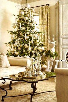 Silver & gold Christmas tree ornaments décor Paris Apartment ToniKami Ðℯck Ʈհe HÅĿĿs
