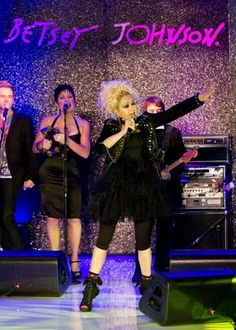 Cyndi Lauper performs for the Betsey Johnson Runway Show. How Fun!