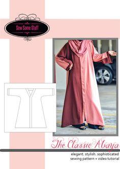 The Classic Abaya Sewing Pattern and Tutorial by SewSomeStuff