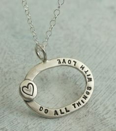 Do All Things With Love  in sterling silver by KathrynRiechert