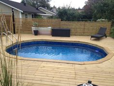 Above Ground Pool Decks, Above Ground Swimming Pools, In Ground Pools, Building A Floating Deck, Building A Deck, Decks Around Pools, Swimming Pool Decks, Backyard Pool Designs, Diy Pool