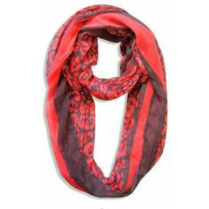 Neon pink & grey animal print scarf Soft thin cotton mix material. One size fits all. Very chic & trendy leopard print!   Please note this is NOT an infinity scarf, it's open at the end. Accessories Scarves & Wraps