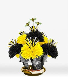 Black And Yellow Bumble Bee Centerpiece