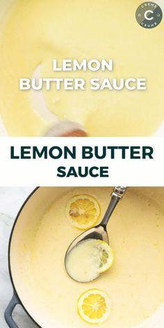 Pasta With Lemon Sauce, Butter Sauce For Pasta, Lemon Pasta, Sauces For Pasta, Seafood Butter Sauce Recipe, Lemon Garlic Sauce, Chutney, Vegetarian Recipes, Cooking Recipes
