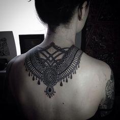 Incredible back tattoo...