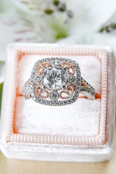 How Are Vintage Engagement Rings Not The Same As Modern Rings? If you're deciding from a vintage or modern diamond engagement ring, there's a great deal to consider. Princess Cut Rings, Princess Cut Engagement Rings, Rose Gold Engagement Ring, Oval Engagement, Elegant Engagement Rings, Perfect Engagement Ring, Wedding Rings Vintage, Vintage Rings, Vintage Jewellery