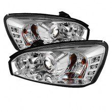 2004 2007 Chevy Malibu Projector Headlights Pair Led Halo