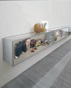 Horizontal Wall Cabinet With Glass Door FRAME | Wall Cabinet   ALIVAR.