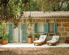 A Diary of Lovely: Hotel Predi Son Jaumell, Mallorca Adobe Haus, Outdoor Spaces, Outdoor Living, Stone Houses, Tropical Houses, Architecture, My House, Beautiful Homes, New Homes