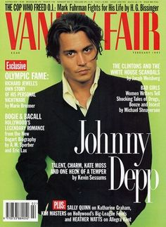 The Cover Boy | Depp photographed by Annie Leibovitz for Vanity Fair, February 1997