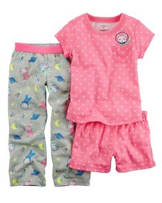 e0e736bcb6b3e Carter's Baby Girls' 3-Piece Astronaut Mouse Jersey PJs 12 Months #fashion #