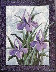 Iris Garden Paper Pieced Quilt Pattern Designer Wkshop