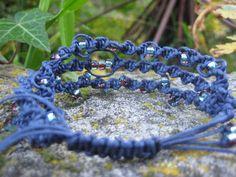 The TriplePlay Macramé Bracelet in Navy