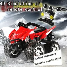 2016 4D RC Remote Control Motorcycle Electronic Toy Cars Rechargeable Drift Dumpers 4WD shaft drive trucks